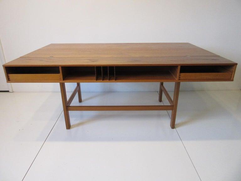 Danish Lovig Flip Top Teak Desk for Dansk  For Sale 8