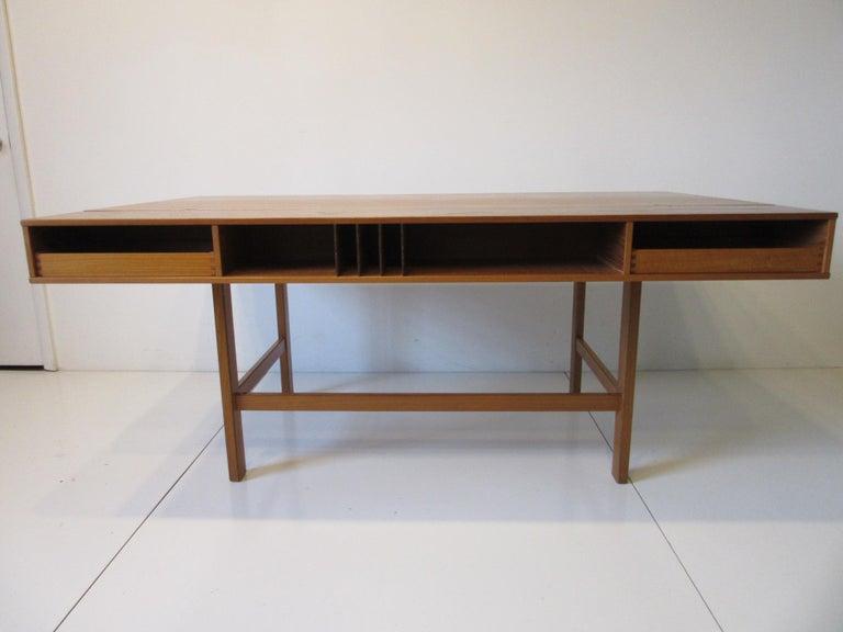 Danish Lovig Flip Top Teak Desk for Dansk  For Sale 9