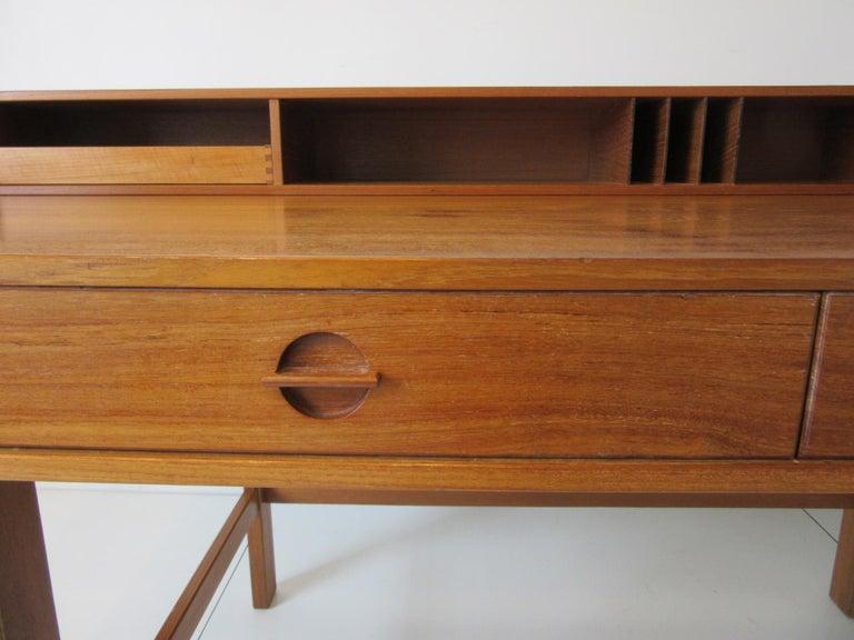 20th Century Danish Lovig Flip Top Teak Desk for Dansk  For Sale