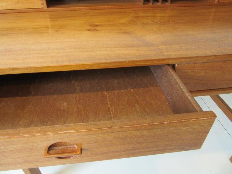 Danish Lovig Flip Top Teak Desk for Dansk  For Sale 1
