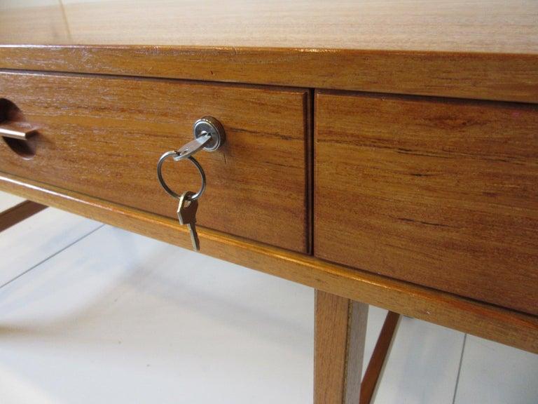 Danish Lovig Flip Top Teak Desk for Dansk  For Sale 2
