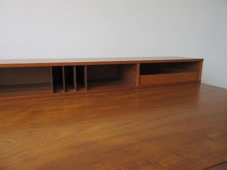 Danish Lovig Flip Top Teak Desk for Dansk  For Sale 3