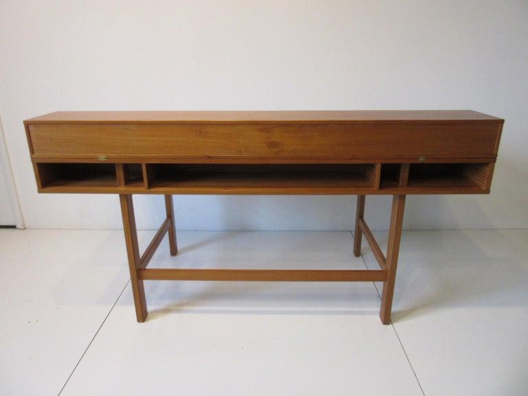 Danish Lovig Flip Top Teak Desk for Dansk  For Sale 4