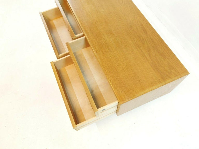 Danish Low Boy Chest of Drawers by Hundevad 1960s-1970s Midcentury Vintage For Sale 1