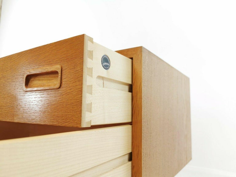 Danish Low Boy Chest of Drawers by Hundevad 1960s-1970s Midcentury Vintage For Sale 2