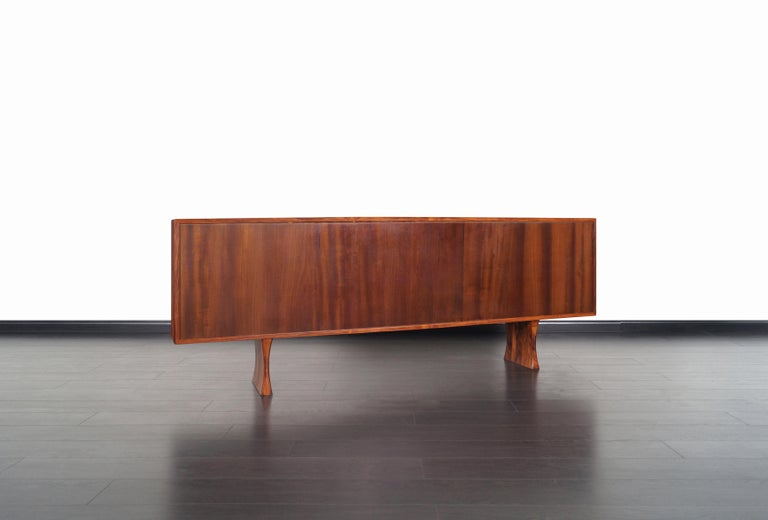 Danish Low Profile Rosewood Bookcase by Bernhard Pederson For Sale 4