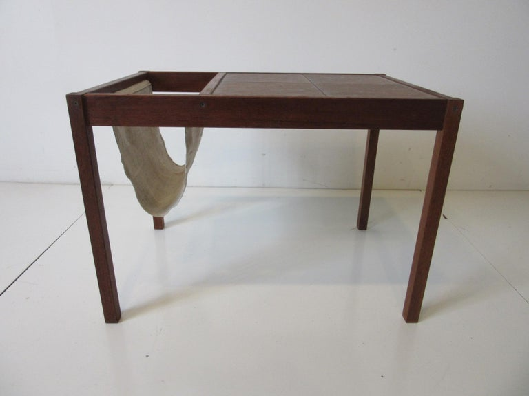 Mid-Century Modern Danish Magazine Rack or Side Table in the Style of BRDRK Furbo For Sale