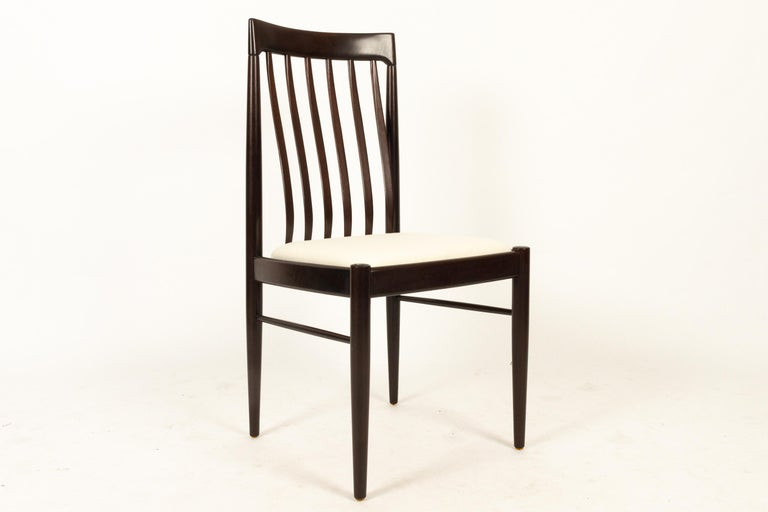 Danish Mahogany Dining Chairs by H. W. Klein for Bramin 1970s Set of 6 For Sale 6