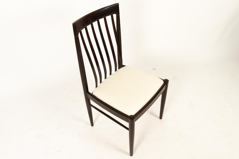 Danish Mahogany Dining Chairs by H. W. Klein for Bramin 1970s Set of 6 For Sale 8