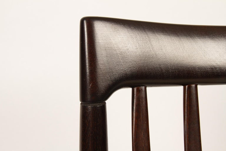 Danish Mahogany Dining Chairs by H. W. Klein for Bramin 1970s Set of 6 For Sale 10