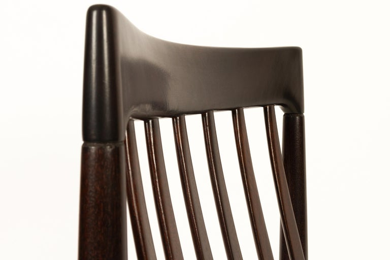 Danish Mahogany Dining Chairs by H. W. Klein for Bramin 1970s Set of 6 For Sale 13