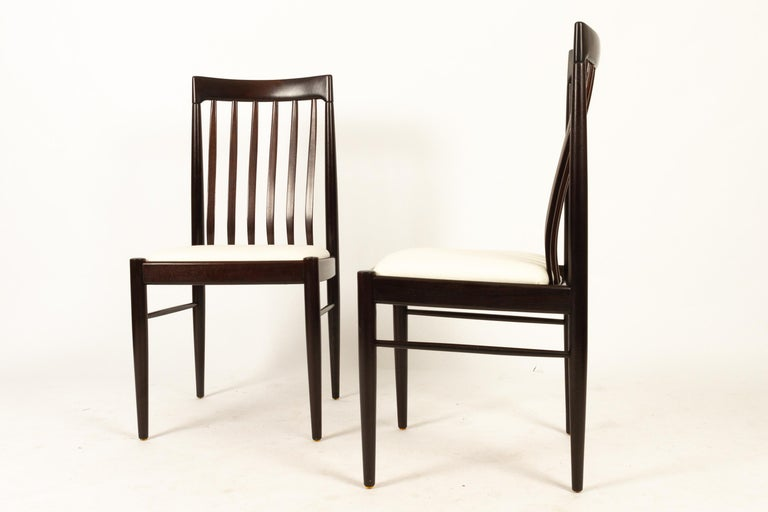 Scandinavian Modern Danish Mahogany Dining Chairs by H. W. Klein for Bramin 1970s Set of 6 For Sale
