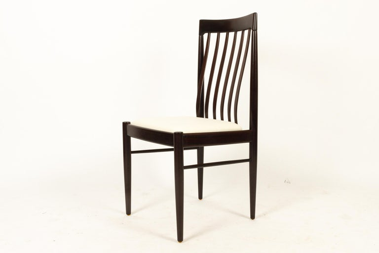 Late 20th Century Danish Mahogany Dining Chairs by H. W. Klein for Bramin 1970s Set of 6 For Sale
