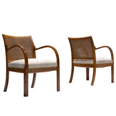 Danish Mahogany Pair of Armchairs