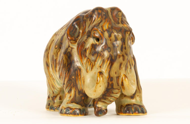 Scandinavian Modern Danish Mammoth Figurine by Knud Kyhn for Royal Copenhagen, 1968 For Sale