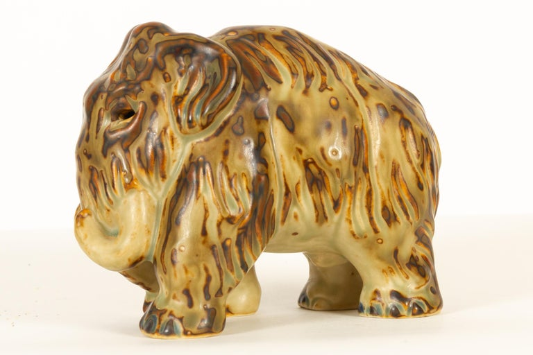 Danish Mammoth Figurine by Knud Kyhn for Royal Copenhagen, 1968 In Good Condition For Sale In Nibe, Nordjylland