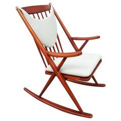 Danish MCM Teak Rocking Chair by Frank Reenskaug for Bramin Møbler