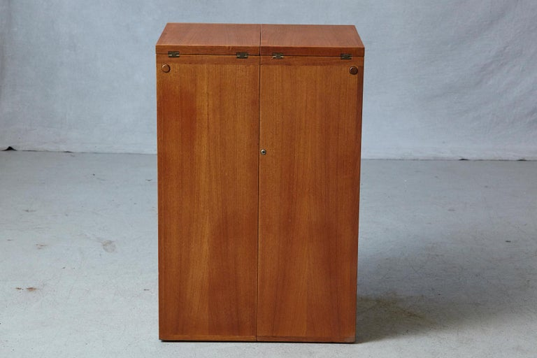 Danish Metamorphic 'Captain's Bar' Teak Bar by Reno Wahl Iversen for Dyrlund For Sale 1