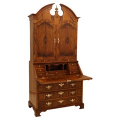 Danish Mid 18th Century Baroque Walnut Venered Danish Secretary