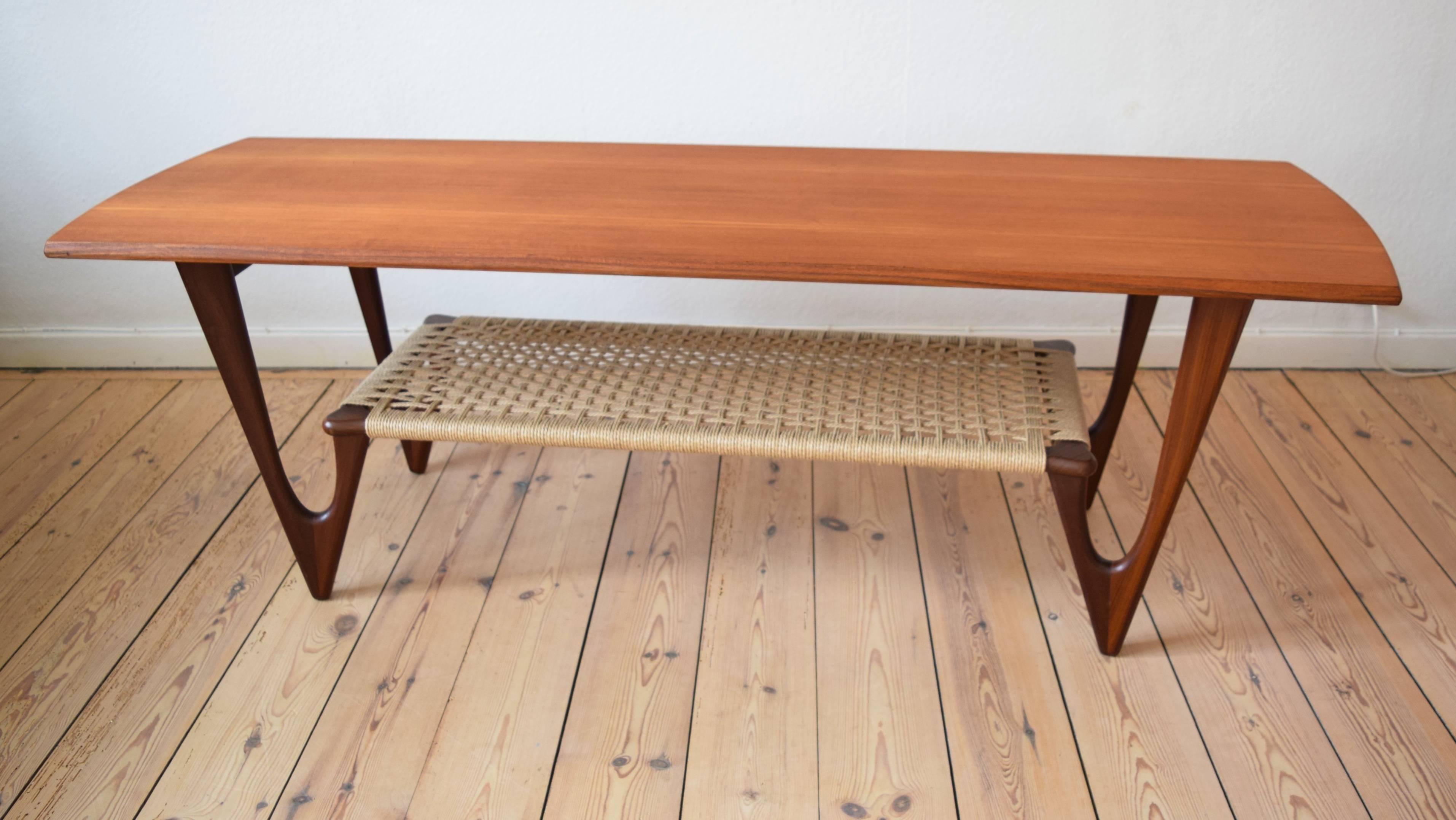 Danish Midcentury Atomic Coffee Table by Erik Kierkegaard, 1953 For ...