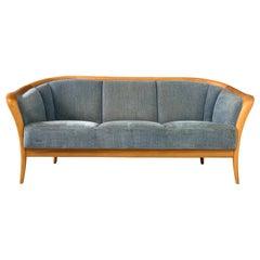 Danish Mid-Century Birch Compact Sofa