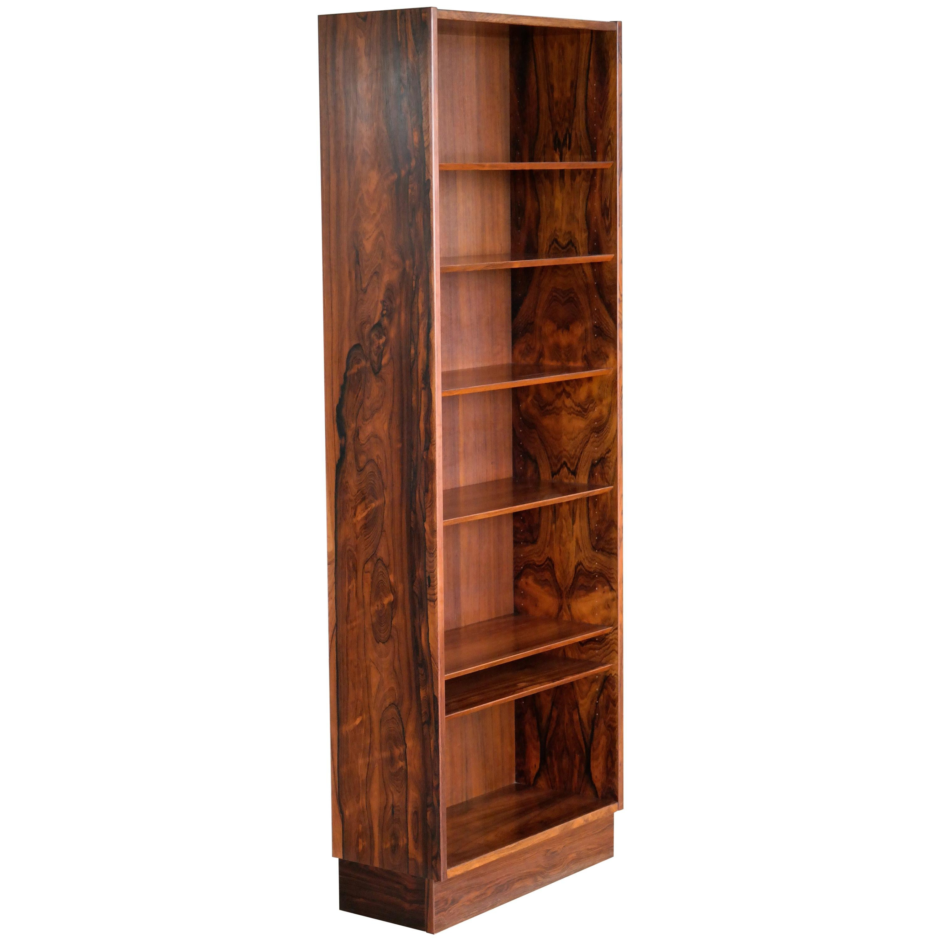 Danish Midcentury Bookcase In Brazilian Rosewood By Poul