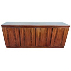 Danish Midcentury Brown Sideboard in Rosewood by Dyrlund Smith