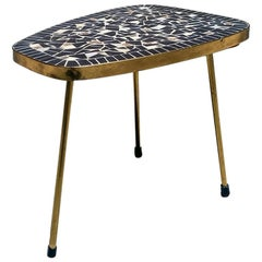 Danish Midcentury Coffee Table or Plants Holder with Mosaic Top, 1960s