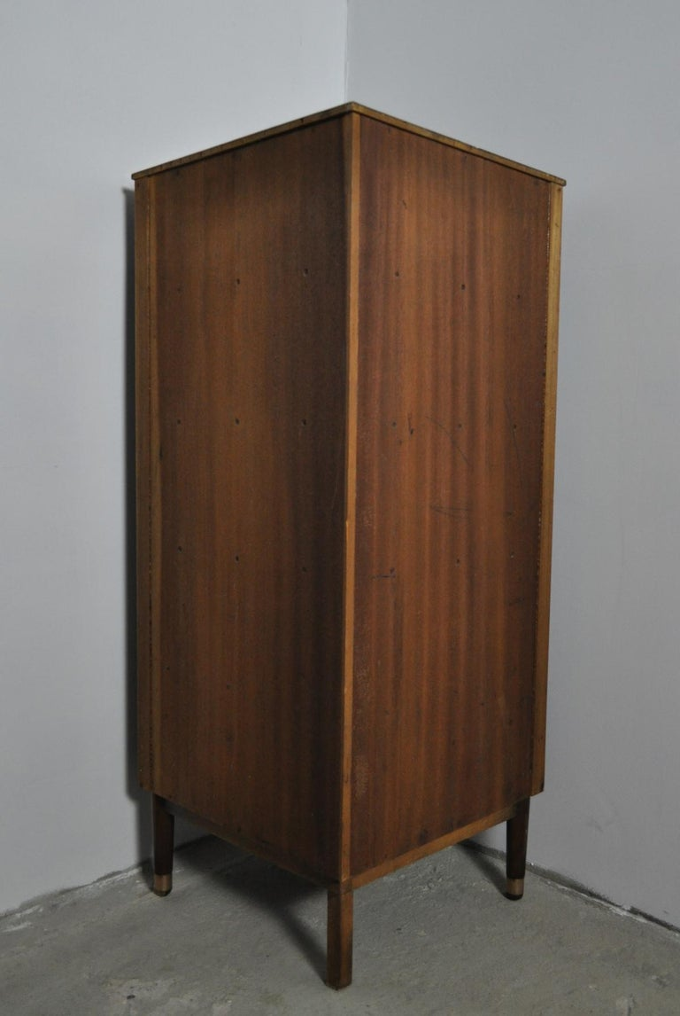 Danish Midcentury Corner Cupboard in Mahogany, Denmark, 1960s For Sale 7