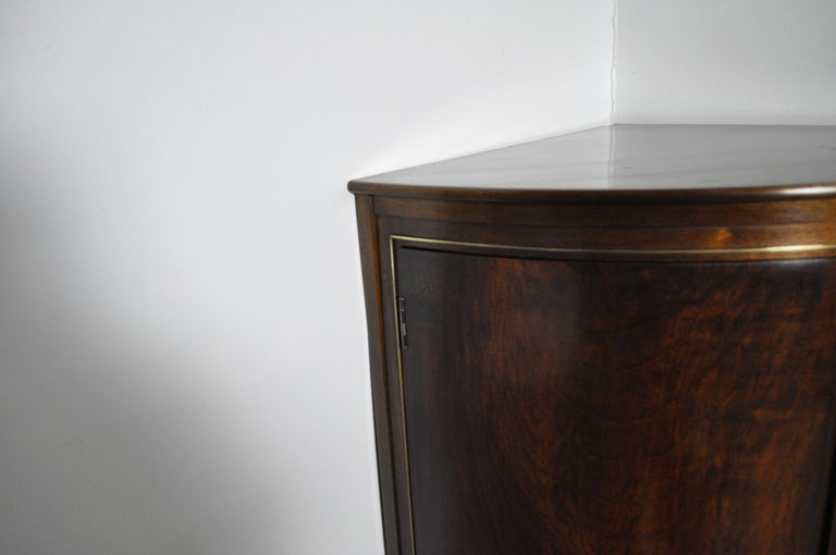 20th Century Danish Midcentury Corner Cupboard in Mahogany, Denmark, 1960s For Sale