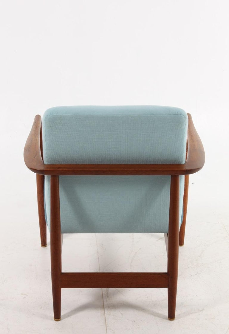 Danish Midcentury Lounge Chair in Teak and Fabric, 1950s For Sale 1