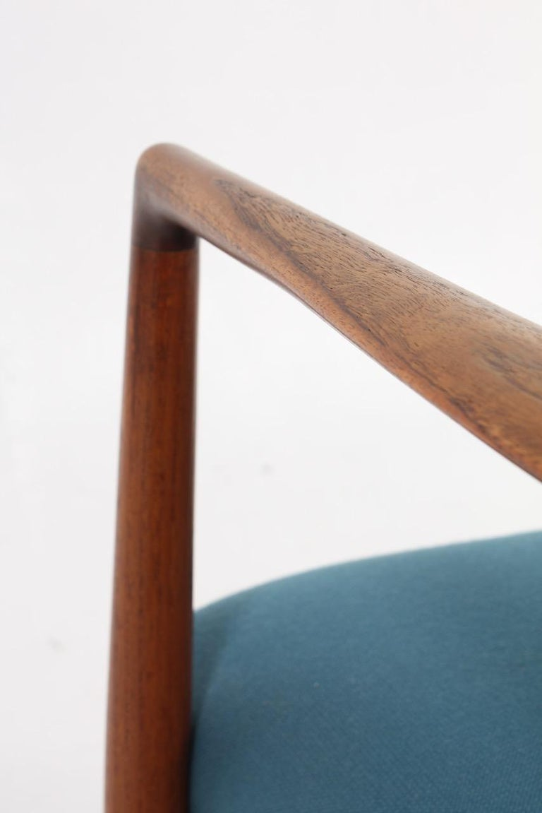 Danish Midcentury Lounge Chair in Teak and Fabric, 1950s For Sale 3