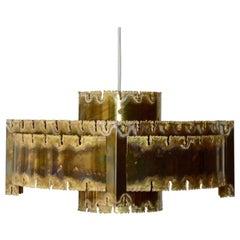 Danish Mid-Century Modern Brutalist Pendant by Holm Sørensen