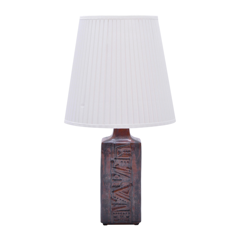 Danish Mid-Century Modern Ceramic Table Lamp by Desiree Stentoj