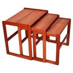 Danish Mid-Century Modern Denmark Teak Nesting Tables