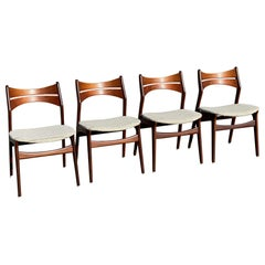Danish Mid-Century Modern Dinning Chairs by Erik Buch