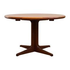 Danish Mid-Century Modern Extendable Teak Dining Table, 1960s
