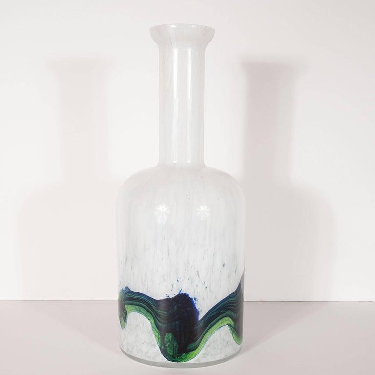 Danish Mid-Century Modern Handblown Glass Vase by Otto Brauer for Holmegaard For Sale 4