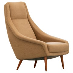 Danish Mid-Century Modern Highback Lounge Chair in Hallingdal ca. 1965, Denmark