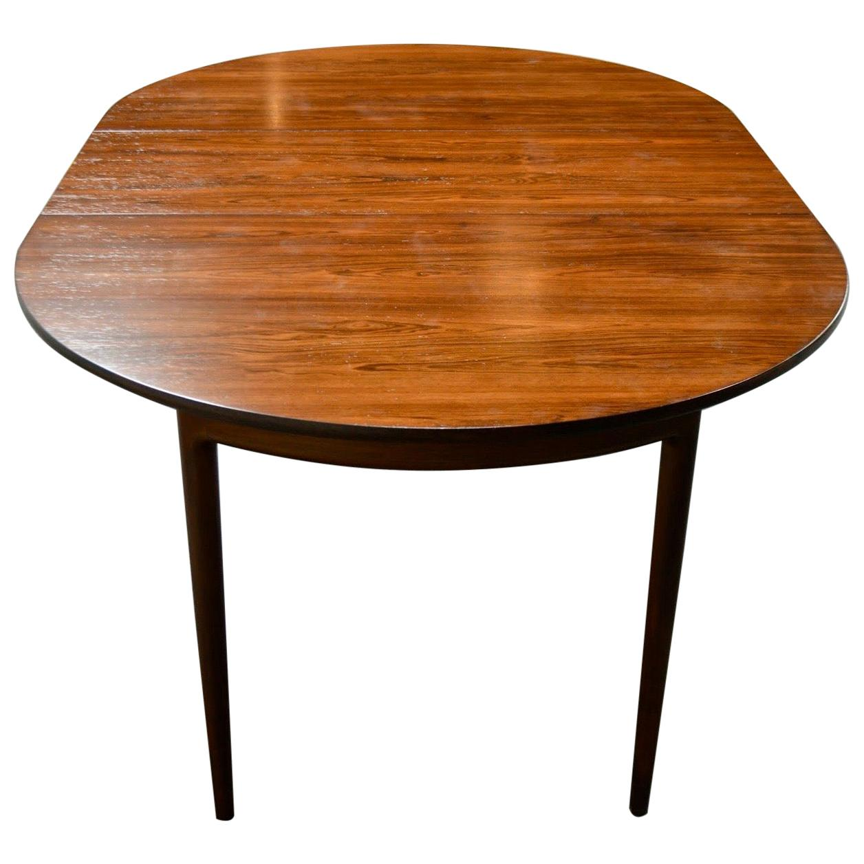Danish Mid-Century Modern Jacaranda Extension Dining Table