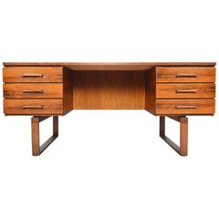 Danish Mid-Century Modern Jensen and Valeur Rosewood Executive Desk