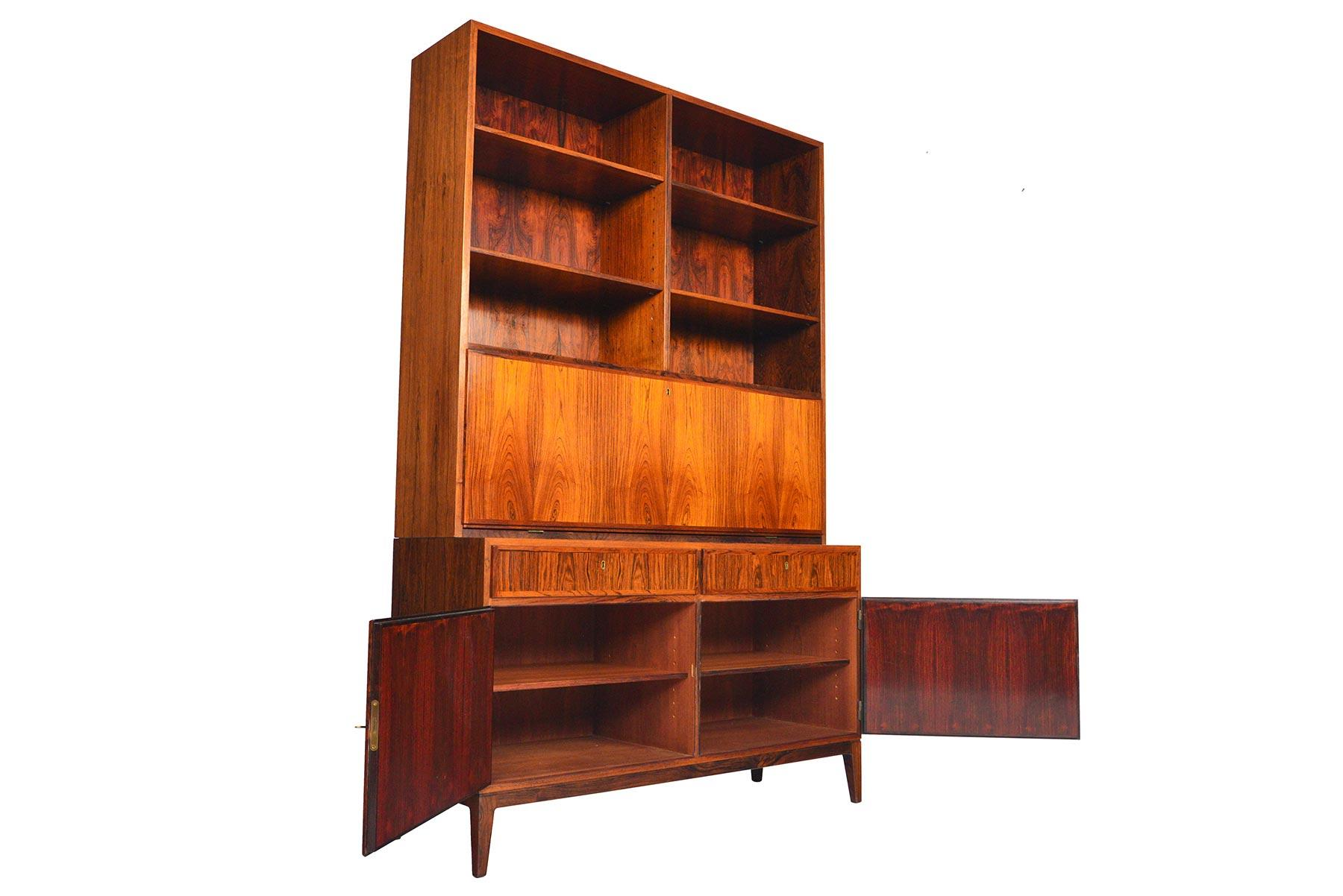 Danish Credenza Hutch : Danish mid century modern kai winding rosewood credenza with