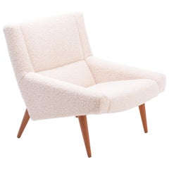 Danish Mid-Century Modern Model 50 Chair by Illum Wikkelsø in Teddy Fur
