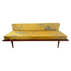 Danish Mid-Century Modern New Upholstered Scandia Settee Sofa Loveseat
