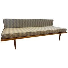 Danish Mid-Century Modern Newly Upholstery Herman Miller Fabric Settee Loveseat