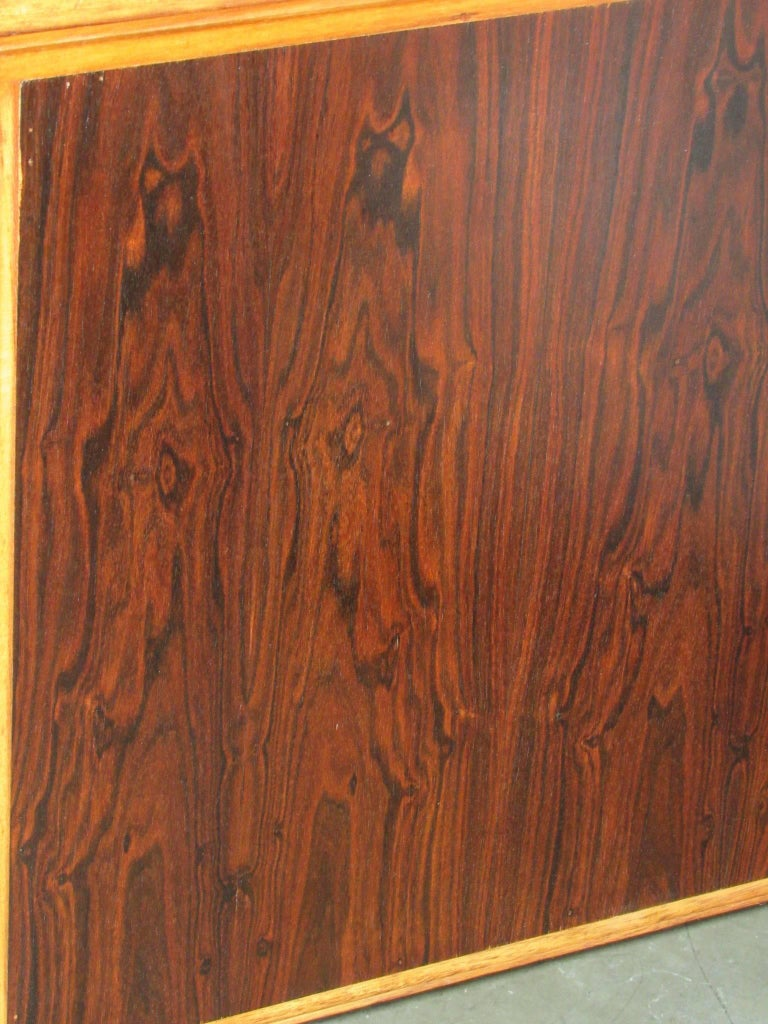 20th Century 1960s Jacaranda Rosewood & Teak Desk Mid-Century Modern Columbia South America For Sale
