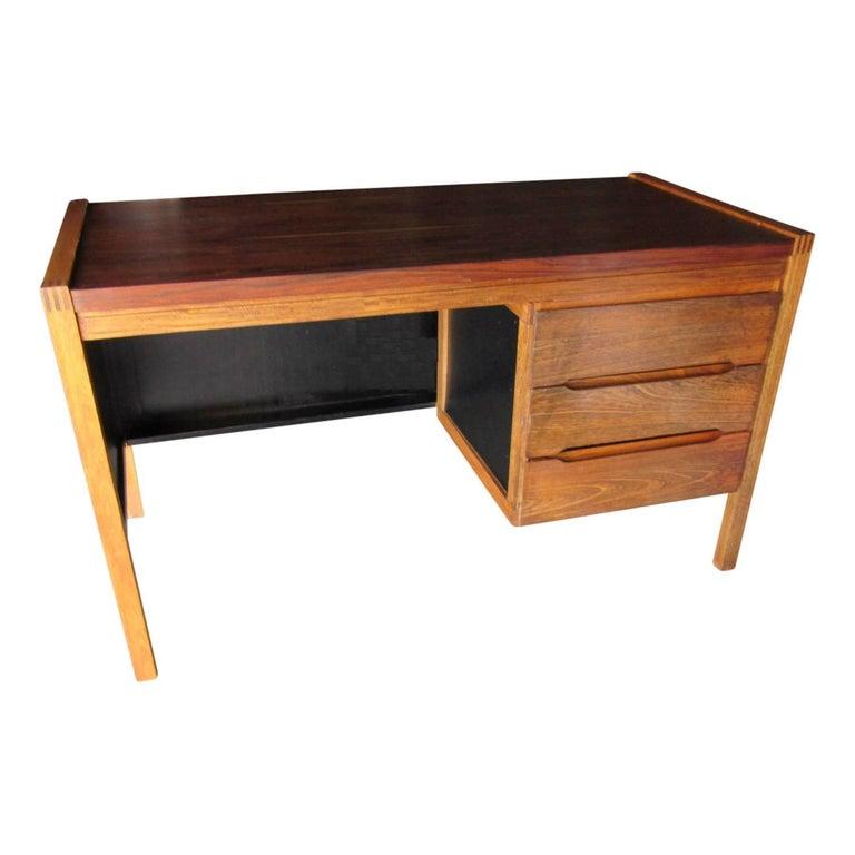 1960s Jacaranda Rosewood & Teak Desk Mid-Century Modern Columbia South America For Sale 1