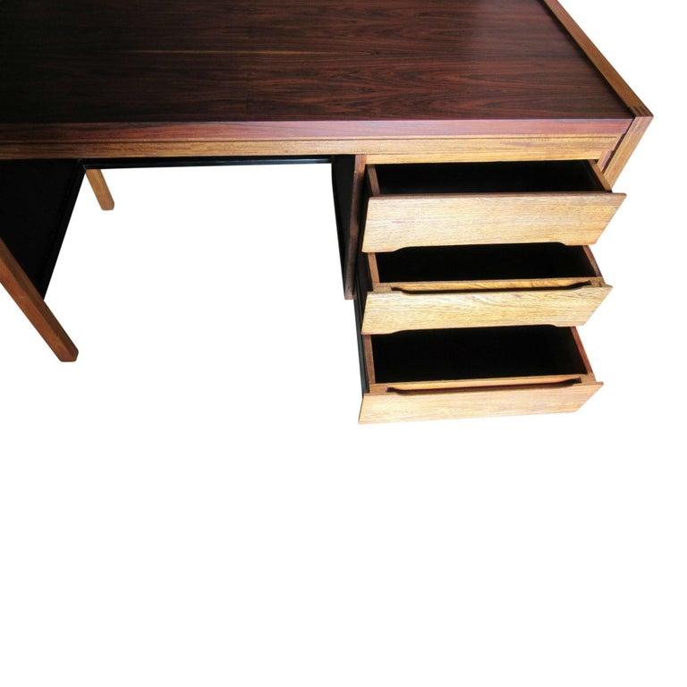 1960s Jacaranda Rosewood & Teak Desk Mid-Century Modern Columbia South America For Sale 2