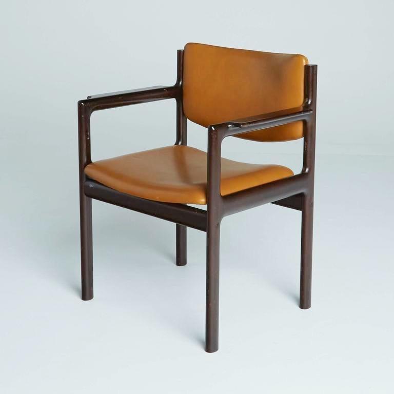 Mid-20th Century Danish Mid-Century Modern Rosewood Armchairs, circa 1960, Signed