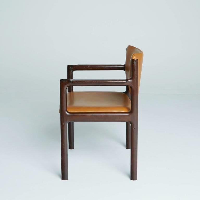 Upholstery Danish Mid-Century Modern Rosewood Armchairs, circa 1960, Signed